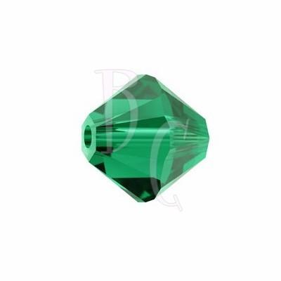 Bicono swarovski 5328 6 MM Emerald - 10 pezzi