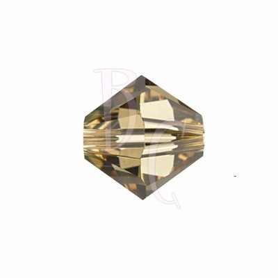Bicono swarovski 5328 6 MM Light Colorado Topaz - 10 pezzi