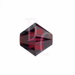 Bicono swarovski 5328 6 MM Ruby - 10 pezzi