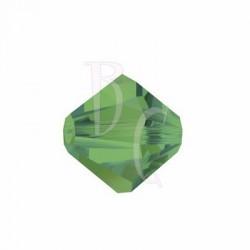 Bicono swarovski 5328 6 MM Palace green opal - 10 pezzi