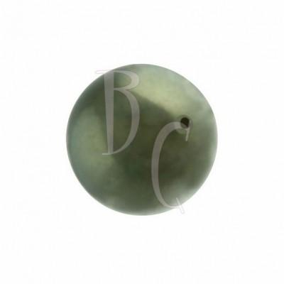 Perla swarovski 5810 14 MM Crystal Pearl Dark Green