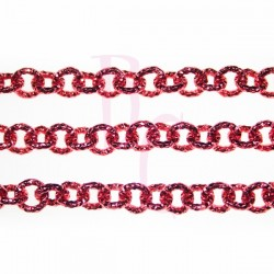 Catena tonda diamantata 8 mm rosso