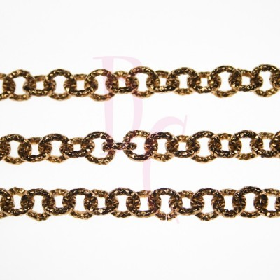 Catena tonda diamantata 8 mm bronzo