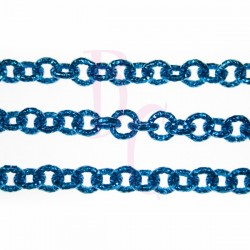Catena tonda diamantata 8 mm blu