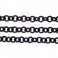 Catena tonda diamantata 8 mm nero