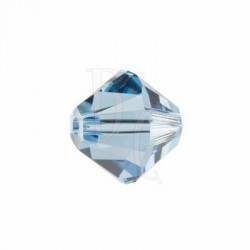 Bicono swarovski 5328 6 MM Denim blue - 10 pezzi