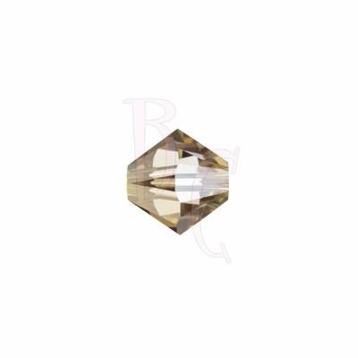 Bicono swarovski 5328 4MM Crystal Golden Shadow
