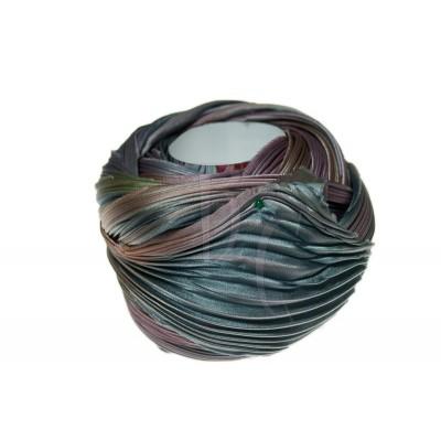 Seta Shibori color Silver lining borealis x15cm