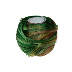 Seta Shibori color Dark green and orange x15cm