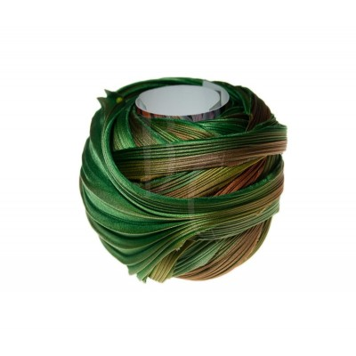 Seta Shibori color Dark green and orange x15cm