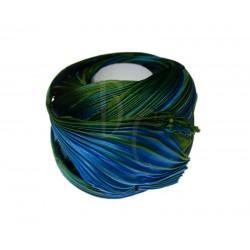 Seta Shibori color Peacock x15cm