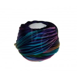 Seta Shibori color Purple passion borealis x15cm