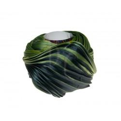 Seta Shibori color Midnight chartreuse x15cm