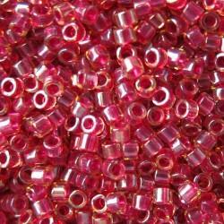 DB0282 - Cranberry Lined Lt Topaz Luster 5 gr