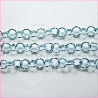 Catena tonda diamantata 12 mm celestino