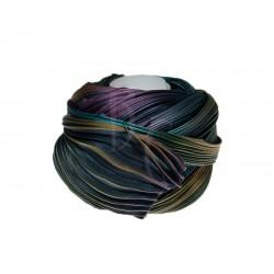 Seta Shibori color Midnight borealis  x15cm