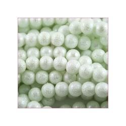 Perla bianca 10 mm buccia d'arancia