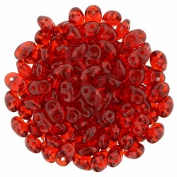 Superduo 2,5X5 mm Siam Ruby