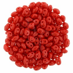 Superduo 2,5X5 mm Opaque Red 10 gr
