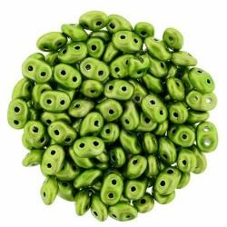 Superduo 2,5X5 mm Metalust Apple Green 10 gr