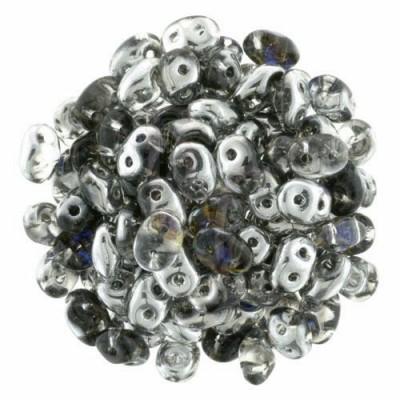 Superduo 2,5X5 mm Silver Blue-Crystal 10 gr