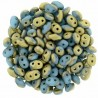 Superduo 2,5X5 mm Fool's Gold - Blue Turquoise 10 gr