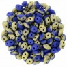 Superduo 2,5X5 mm  Fool's Gold - Opaque Blue 10 gr