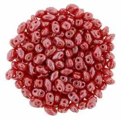Superduo 2,5X5 mm Luster - Opaque Red 10 gr