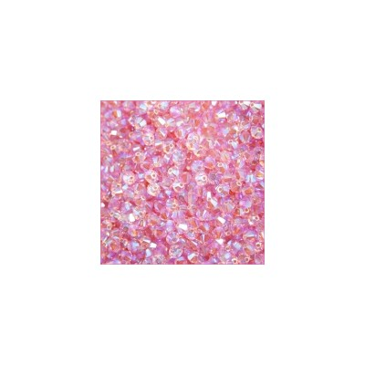 Bicono swarovski 5328 4MM Light Rose AB 2X