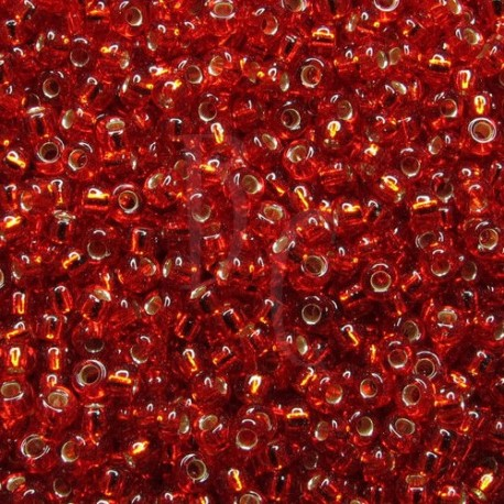 Rocaille 11/0 0011 Silver Lined Ruby 10 gr