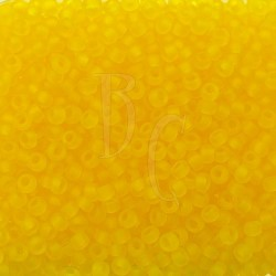 Rocaille 11/0 0136F Trasparent Yellow Matted 10 gr
