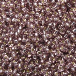 Rocaille 8/0 0012 Silver Lined Smoky Amethyst 10 gr