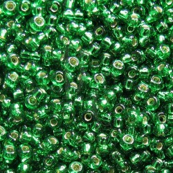 Rocaille 8/0 0016 Silver Lined Green 10 gr