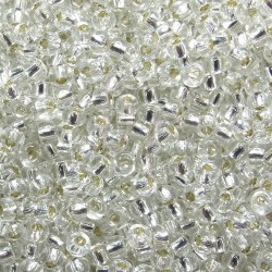 Rocaille 8/0 0001 Silver Lined Crystal 250 gr